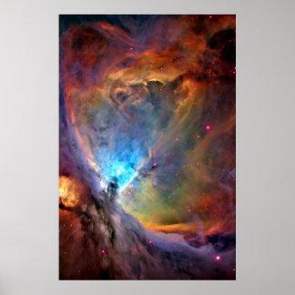 Galaxia del espacio de la nebulosa de Orión Póster