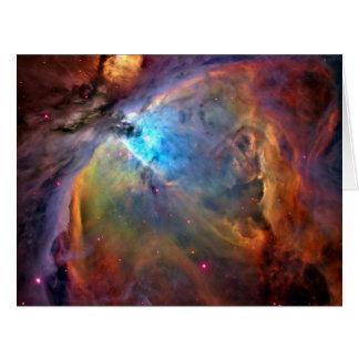 Galaxia del espacio de la nebulosa de Orión Tarjeta De Felicitación Grande
