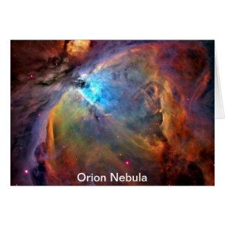 Galaxia del espacio de la nebulosa de Orión Tarjeta De Felicitación