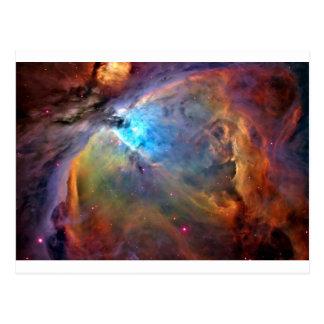 galaxia del espacio de la nebulosa de Orión Tarjetas Postales
