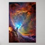 Galaxia del espacio exterior de la nebulosa de póster