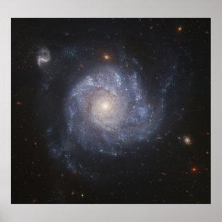 Galaxia del molinillo de viento del poster del esp