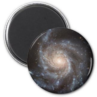 Galaxia del molinillo de viento imán redondo 5 cm