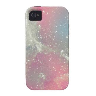 Galaxia del pastel de la nebulosa de Starbabe iPhone 4/4S Fundas