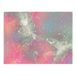 Galaxia del pastel de la nebulosa de Starbabe Postal