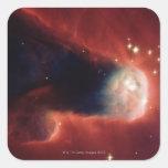 Galaxia del Tadpole Pegatina Cuadrada