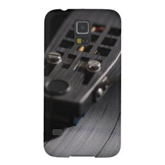 Galaxia: Disco de vinilo en una placa giratoria. Carcasa De Galaxy S5