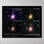 Galaxia distante en el campo ultra profundo de Hub Impresiones