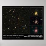 Galaxia distante en el campo ultra profundo de Hub Posters