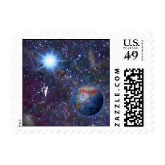 Galaxia distante sellos