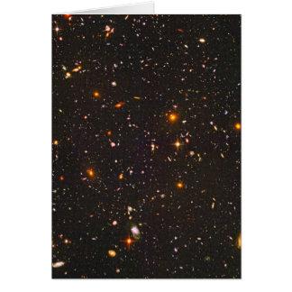 Galaxia distante tarjeta de felicitación