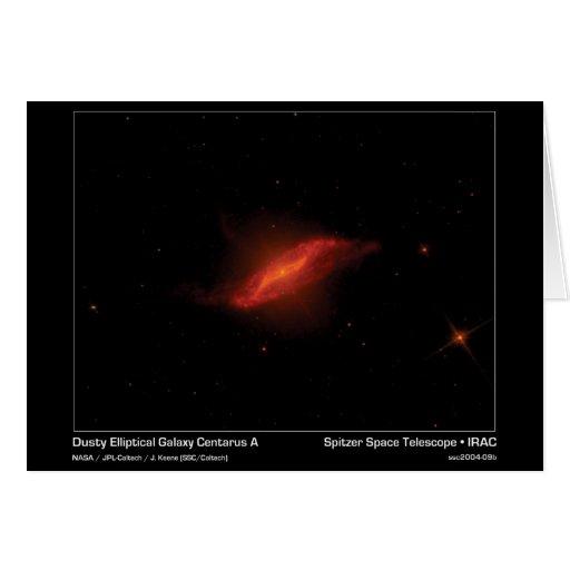 Galaxia elíptica polvorienta Centarus A - espacio  Tarjeta De Felicitación