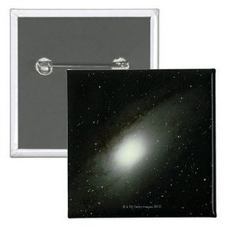 Galaxia en Andromeda Pin Cuadrado