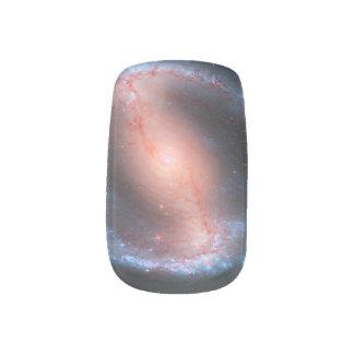 Galaxia en colores pastel del espacio del gótico pegatinas para manicura