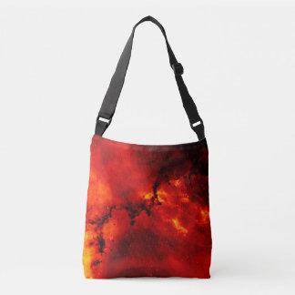 Galaxia en el fuego bolsa cruzada