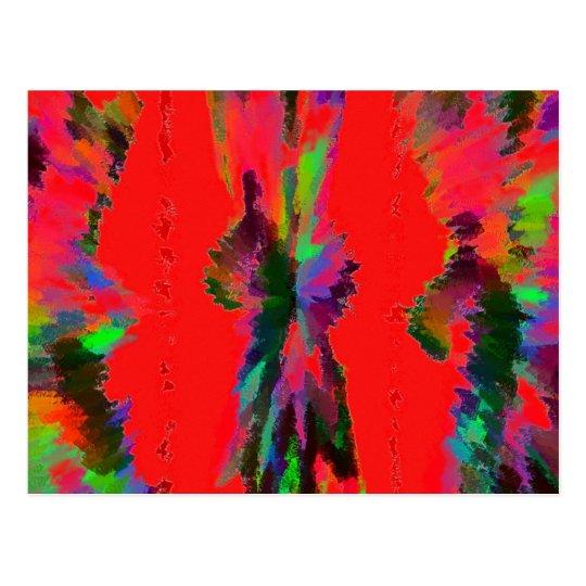 Galaxia en rojo tarjeta postal