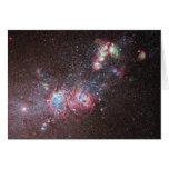 Galaxia enana NGC 4214 Tarjetón