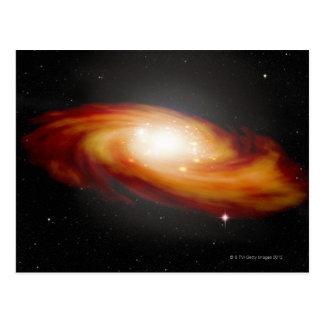 Galaxia espiral 3 postal