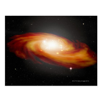 Galaxia espiral 3 tarjetas postales