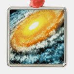 Galaxia espiral 4 ornamentos de navidad