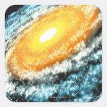 Galaxia espiral 4 pegatina cuadradas