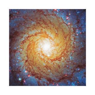 Galaxia espiral 74 más sucios impresiones de lienzo
