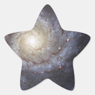 Galaxia espiral 74 NGC más sucios 628 Pegatina En Forma De Estrella