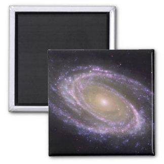 Galaxia espiral 81 más sucios imán cuadrado