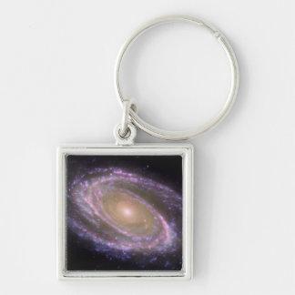 Galaxia espiral 81 más sucios llaveros personalizados