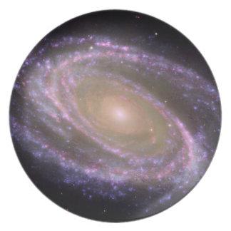 Galaxia espiral 81 más sucios plato de cena