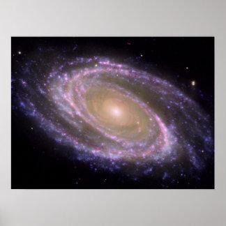 Galaxia espiral 81 más sucios póster