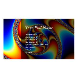Galaxia espiral - arte del fractal plantilla de tarjeta personal