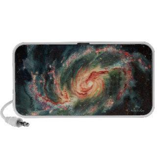 Galaxia espiral barrada sistema altavoz