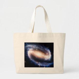 Galaxia espiral barrada bolsa tela grande