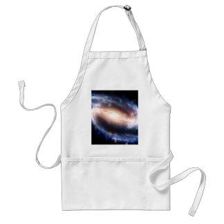Galaxia espiral barrada delantal