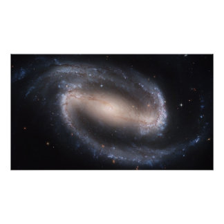 Galaxia espiral barrada NGC 1300 Posters