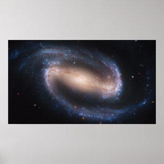 Galaxia espiral barrada NGC 1300 por el telescopio Póster