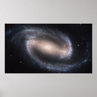 Galaxia espiral barrada NGC 1300 Póster