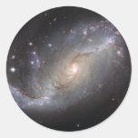 Galaxia espiral barrada NGC 1672 Pegatina Redonda