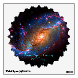 Galaxia espiral barrada NGC 1672 Vinilo Decorativo