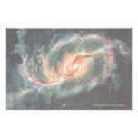Galaxia espiral barrada papeleria de diseño