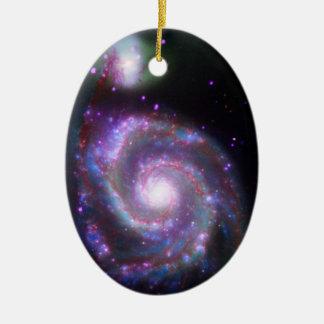 Galaxia espiral clásica ornamentos para reyes magos