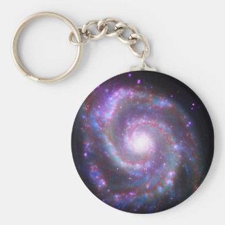Galaxia espiral clásica llavero