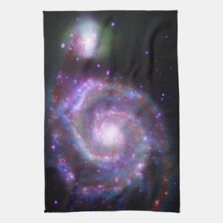 Galaxia espiral clásica toalla de mano