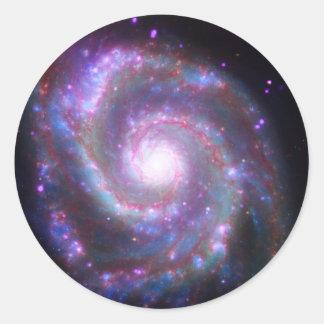 Galaxia espiral clásica etiquetas redondas