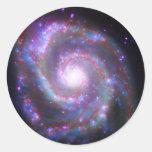 Galaxia espiral clásica pegatina redonda