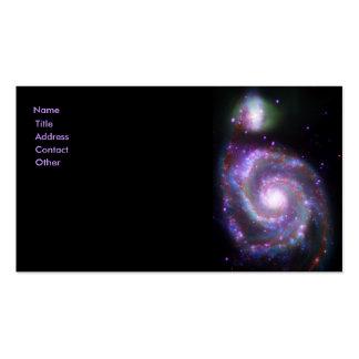 Galaxia espiral clásica tarjetas de visita