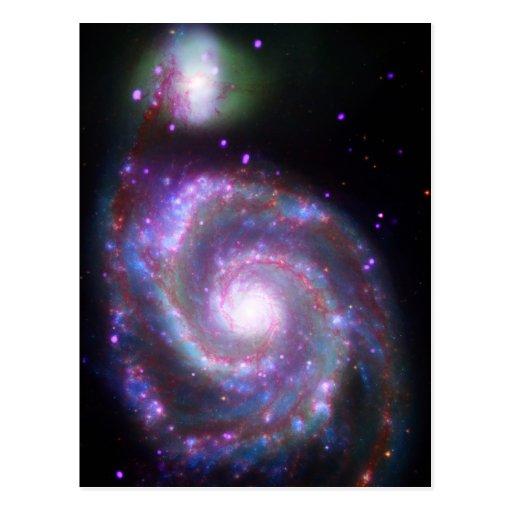 Galaxia espiral clásica tarjeta postal