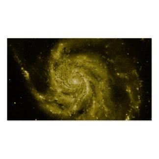 Galaxia espiral compuesto verde tarjetas personales