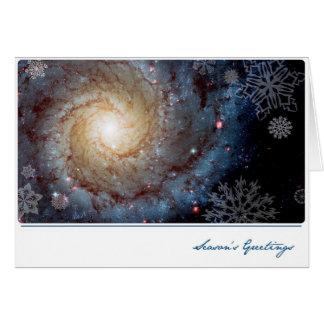 Galaxia espiral con los copos de nieve - telescopi tarjetón